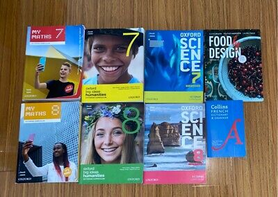 AU22 • Buy Year 7 And 8 Oxford Textbooks And French To English Dictionary 8 Available