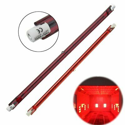 1300W 254mm R7S Halogen Quartz Ruby Red Infra-Red Heater Bar Tube Pipe Heat Lamp • 7.58£