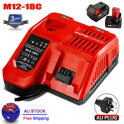 AU42.99 • Buy Replace For Milwaukee M18 M12 12V-18V Multi Voltage Battery Charger Dual M12-18C