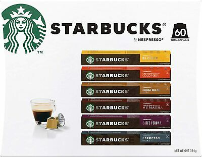 AU46.50 • Buy Starbucks By Nespresso Coffee Pods Variety Pack 60 Capsules (10 Of Each Flavor).