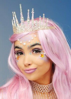 Iridescent Mermaid Tiara Crown Headpiece • 8.99£
