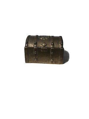Small Brass Color Jewellery Trinket Treasure Chest / Box Perfect Gift  • 2£