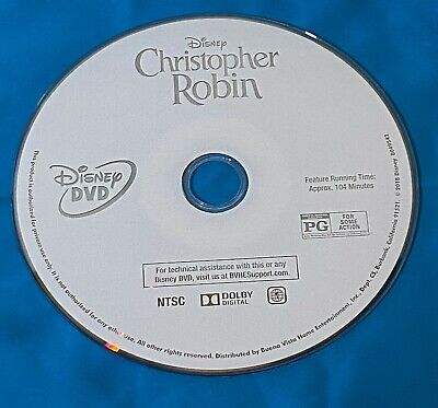 $1 • Buy Disney Christopher Robin DVD Disc Only No Box Or Case Or Paperwork Used Good Sha