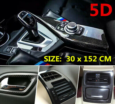 $15.99 • Buy Car Stickers Carbon Fiber Vinyl Film Wrap Auto Interior 7D Parts Accessories