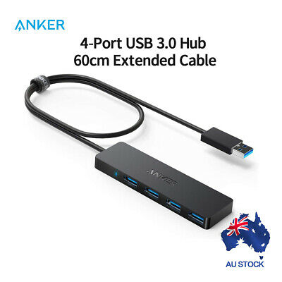 AU30.59 • Buy ANKER USB HUB  4-PORT ULTRA SLIM SUPERSPEED 3.0 NON POWERED For MAC PC 2ft 60cm