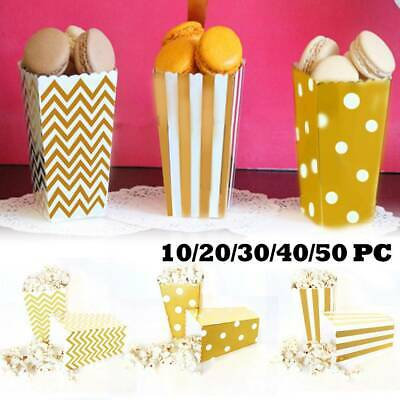 10-50PC Popcorn Boxes Movie Hollywood Birthday Party Cinema Treats Paper Bag Fun • 3.11£