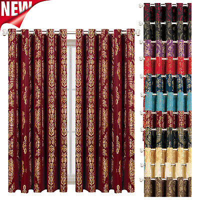 Ring Top Curtains Ready Made Fully Lined Living Room Bedroom Window Curtain Pair • 37.99£