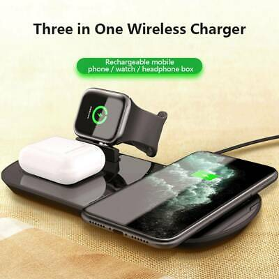 AU27.99 • Buy 3in1 Fast Charging Qi Wireless Charger Dock Stand For Airpods Apple Watch IPhone