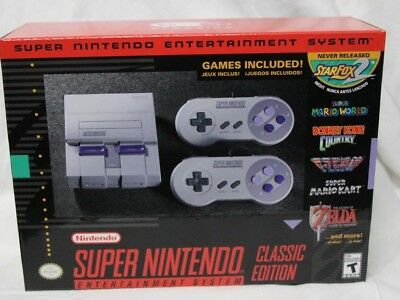 $ CDN246.97 • Buy Super Nintendo SNES Classic Edition New Unopened Box FREE Priority Shipping USA