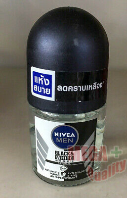 Nivea Invisible MEN Black And White Clear Roll On Deodorant Antiperspirant 12ML • 6.43£