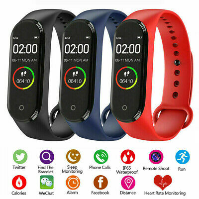 $ CDN12.03 • Buy Smart Watch Waterproof Sport Bracelet Fitness Tracker Monitor Wristband M4