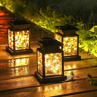 Waterproof LED Solar Powered Hanging Lantern Lights Outdoor Garden Table Lamp • 9.49£