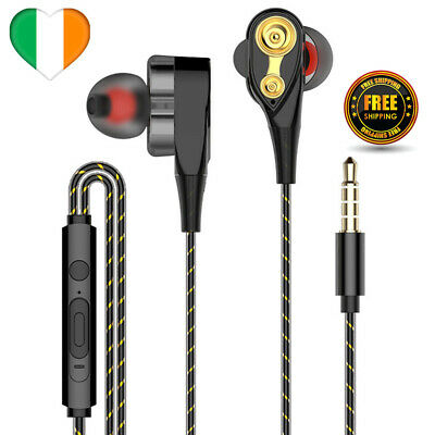 $ CDN6.09 • Buy Earbuds Wired Headphones Dual Drive Bass With Mic Earphones For Cell Phone