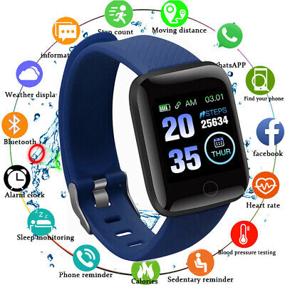 AU14.59 • Buy 116 Plus Smart Watch Bluetooth Heart Rate Blood Pressure Monitor Fitness BUY`