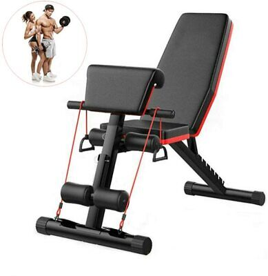 Adjustable Exercise Bench AB Bench Workout Trainer Fitness Equipment For Home • 58.99£