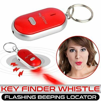 Whistle Lost Key Finder Flashing Beeping Locator Remote Chain LED Sonic Torch. • 1.89£