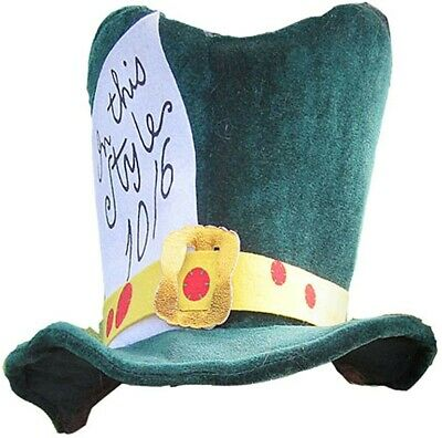 £8.62 • Buy New Alice In Wonderland Classic Mad Hatter Tea Party Adult Costume Top Hat