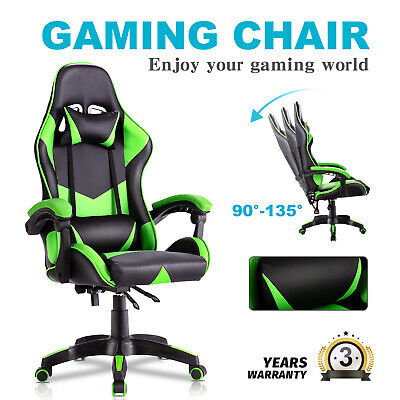 AU119.90 • Buy Advwin Gaming Chair Office Chair PU Leather Ergonomic Recliner Chair Green