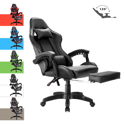 AU119.90 • Buy Advwin Gaming Chair Racing Office Chair PU Leather Seat Ergonomic Recliner Chair