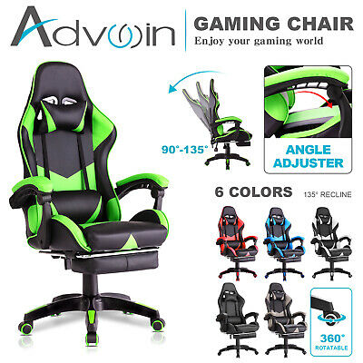 AU129.90 • Buy Advwin Gaming Chair Racing Office Chair Ergonomic Recliner Chair PU Leather Seat