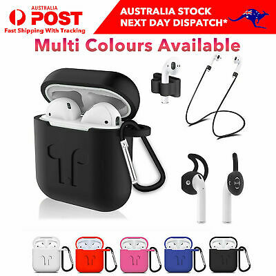 AU6.99 • Buy Apple Airpods 1 2 Silicone Rubber Shockproof Case Cover Ear Hooks Holder Airpod