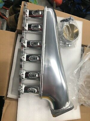 AU650 • Buy 2jz Gte Intake Manifold Polished 12 Injector Twin Fuel Rail 100mm Throttle Body
