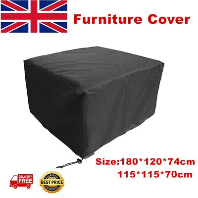 Heavy Duty Garden Patio Furniture Table Cover Rattan Table Cube Set Outdoor 210D • 7.99£