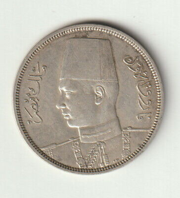 $45 • Buy Egypt 10 Piastres Silver Coin 1939 About Uncirculated Condition KM#367  King
