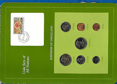 $16.62 • Buy Coin Sets Of All Nations Swaziland W/card 1975-1982 UNC 50,1 Cents 1975