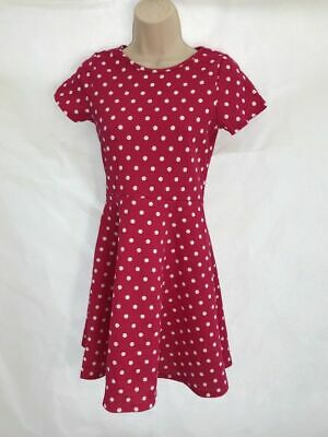 Girls Dress Bluezoo Textured Spotted Pink White Polka Skater Age 9-10 & 11-12  • 8.99£