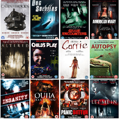 DVD Slasher Horror Movies Monsters Zombies Ghosts Supernatural Lots DVDs Choose  • 2.99£