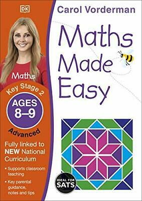 Maths Made Easy Ages 8-9 Key Stage 2 Ad By Carol Vorderman New Paperback Book • 6.44£