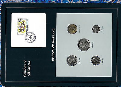 $12.93 • Buy Coin Sets Of All Nations Swaziland W/card 1979 - 1986 UNC 1 Lilangeni 1986