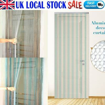 210CM Aluminium Chain Curtain Metal Door Screen Fly Insect Blinds Pest Control • 42.24£