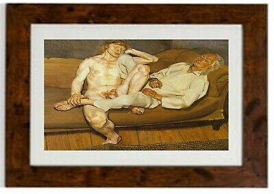 Naked Man With Friend Framed Print By Lucian Freud • 19.99£