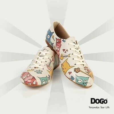 AU119.55 • Buy DOGO Women's Oxford Shoes Vegan Leather Printed