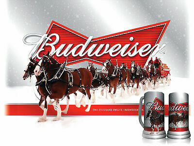 Christmas Budweiser Metal Sign Retro Pub Bar Vintage Poster Beer Garage A116 • 4.75£