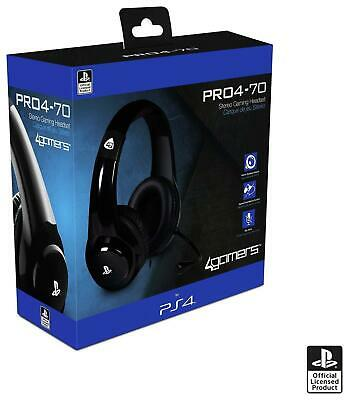 £24.98 • Buy PS4 Gaming Chat Headset With Mic BLACK Officially Licensed PRO4-70 PlayStation 4