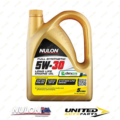 AU50.99 • Buy NULON Full Synthetic 5W-30 Long Life Engine Oil 5L For TOYOTA Yaris