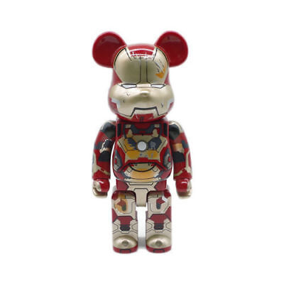 $66.66 • Buy BE@RBRICK Marvel Iron Man Mark XLII 42 Damage Version Bearbrick Figure 400% 28CM