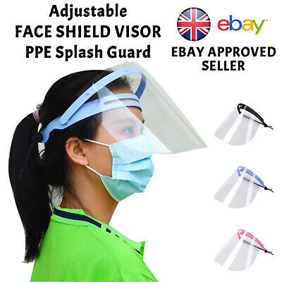 HEADBAND Face Shield Visor PPE Protection Safety Mask Transparent Clear Plastic • 4.95£