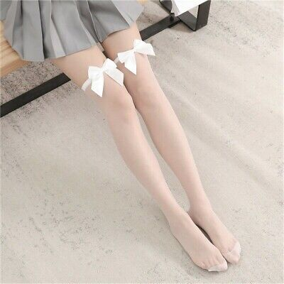 $10.35 • Buy 3 Pairs Sheer Stockings Thigh High Over Knee Sock Japanese Maid Sexy Lolita Lady