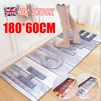 Non-Slip Kitchen Floor Mat Washable Machine Rug Door Large Runner Carpe Hallway • 13.99£