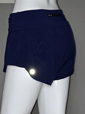 $ CDN61.20 • Buy Lululemon Fast Lane Short 6 Hero Blue Speed Mesh Euc