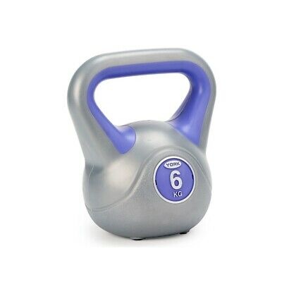 NEW York 6kg Vinyl Kettlebell Fitness Cardio Strength Weight Home & Gym • 35£