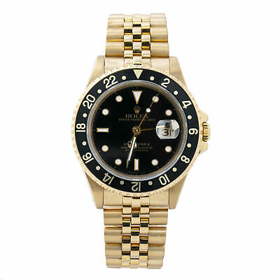 $ CDN29362.21 • Buy Rolex GMT-Master II 16718 18K Yellow Gold Automatic Men's Watch 40mm