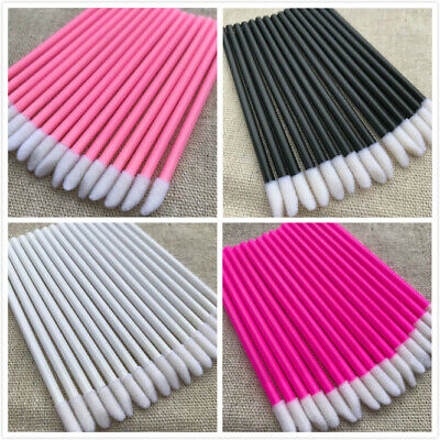 AU6.99 • Buy 50/100/200/500 Lip Brushes Disposable Lip Wands Lipstick Applicator Cotton Tip
