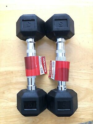 $ CDN59.07 • Buy New Ignite  Rubber HEX 5lb Pair - Weight Lifting - Dumbbell (10lbs Total Weight)