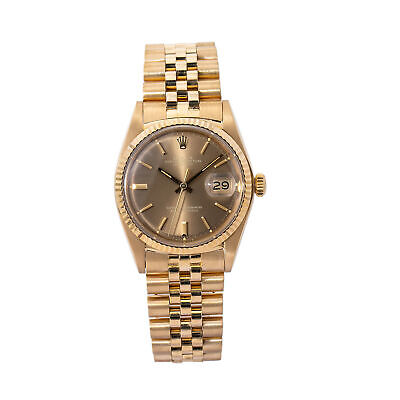 $ CDN17755.47 • Buy Rolex 1601 Datejust Jubilee Vintage 18k Yellow Gold Tropical Dial Men's 36mm