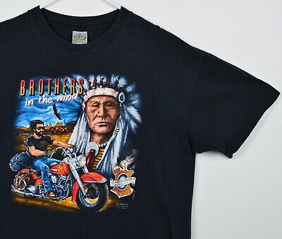 $ CDN201.07 • Buy Vintage 1990 3D Emblem Men's Sz XL Brothers In The Wind Harley-Davidson T-Shirt